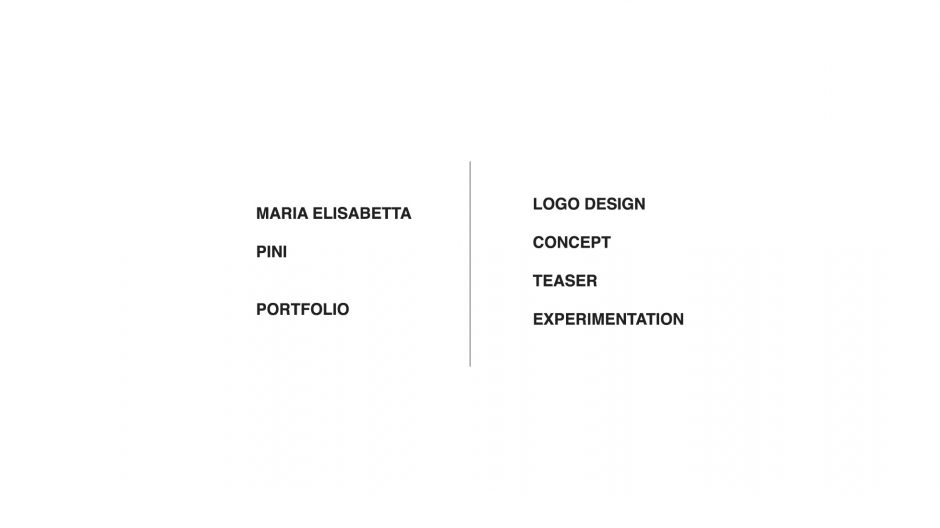 MAria Elisabetta Pini | Portfolio