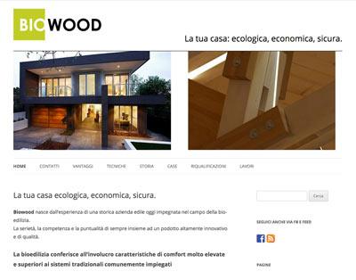 Sito web Biwood.it Anonima Design